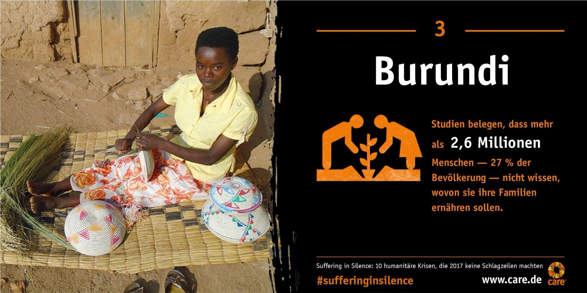 Stilles Leid, so nennt @care_de die andauernde politische Krise in Burundi ht...
