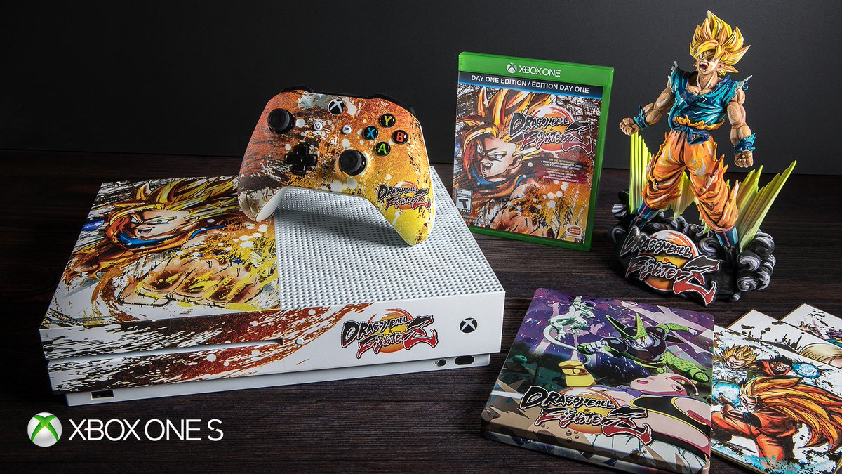 Last chance. RT to be entered to win a custom DRAGON BALL FighterZ [T] #XboxOneS. NoPurchNec. Ends 1/28/18. #DBFZXboxSweepstakes rules: bit.ly/2DPl9sz