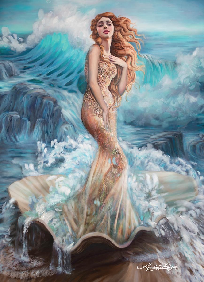 aphrodite goddess painting - 736×882