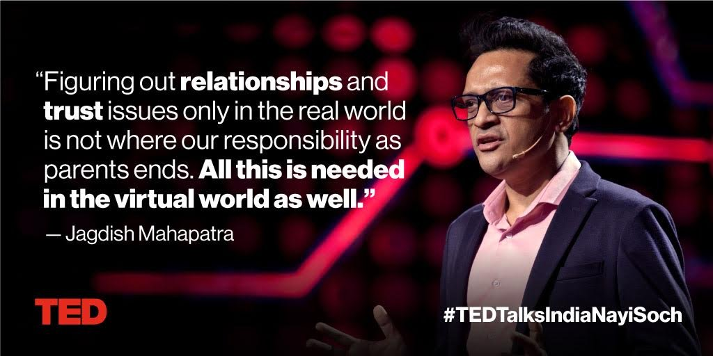 How to keep your kids safe on the internet: https://t.co/uWwsnGpIVO #TEDTalksIndiaNayiSoch @JagdishMahapat1