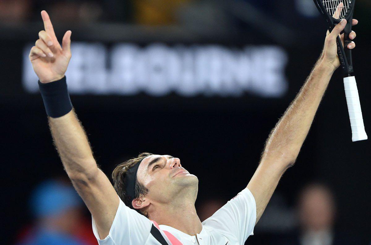 Always a joy to watch you play, @rogerfederer. 20 Grand slams.. What an achievement! #AusOpen #Federer