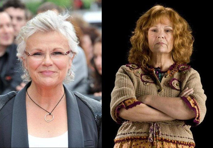 Happy 68th Birthday to Julie Walters! An amazing actress and the perfect Molly Weasley.