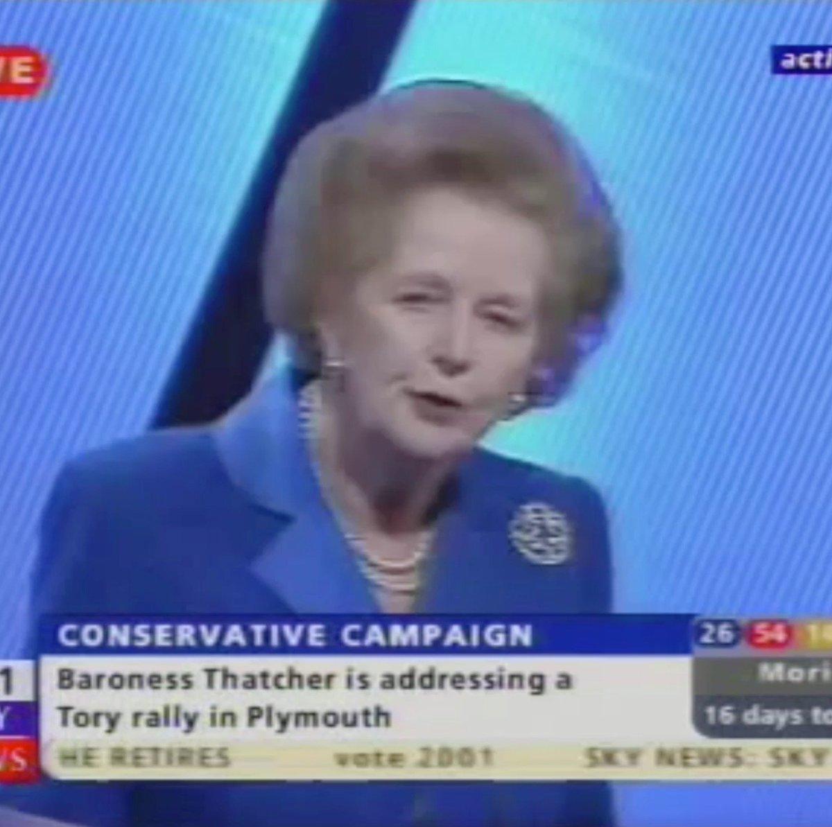 Margaret Thatcher's photo on SECOND HALF