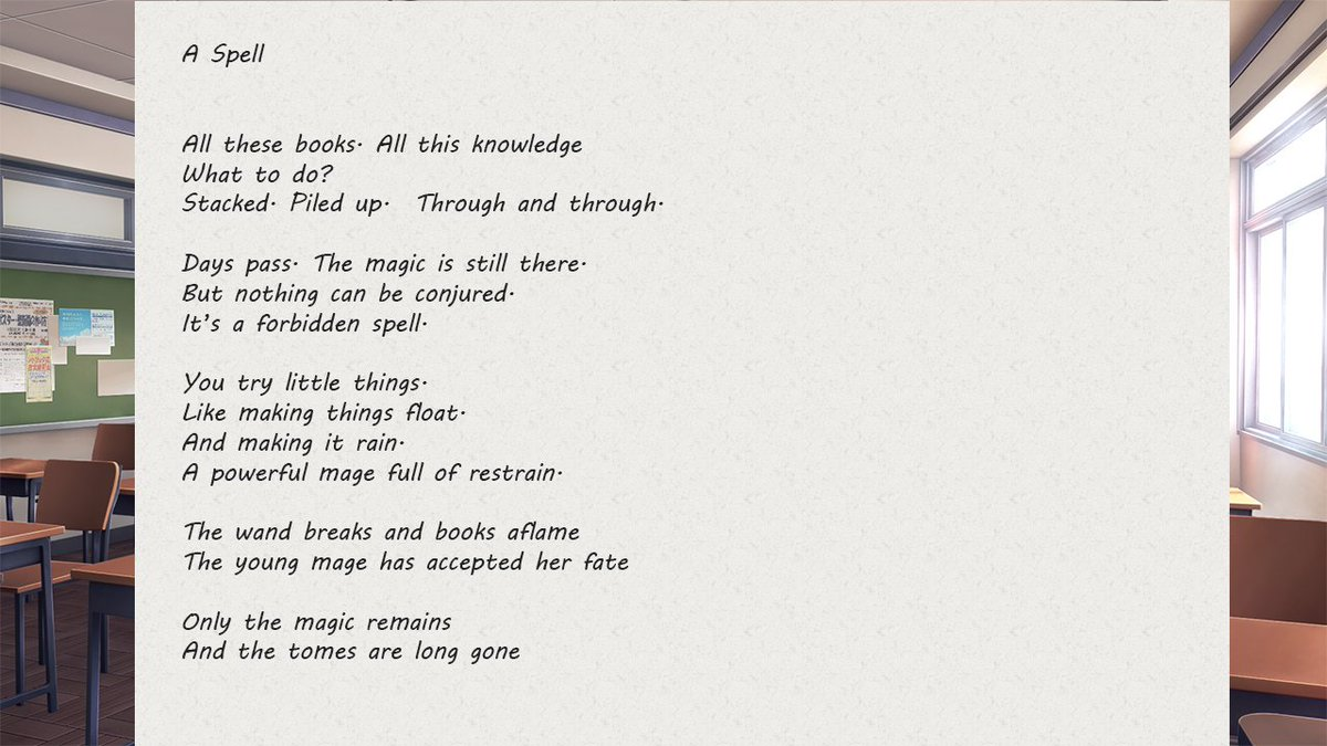 Doki Doki Literature Club All Poems 1