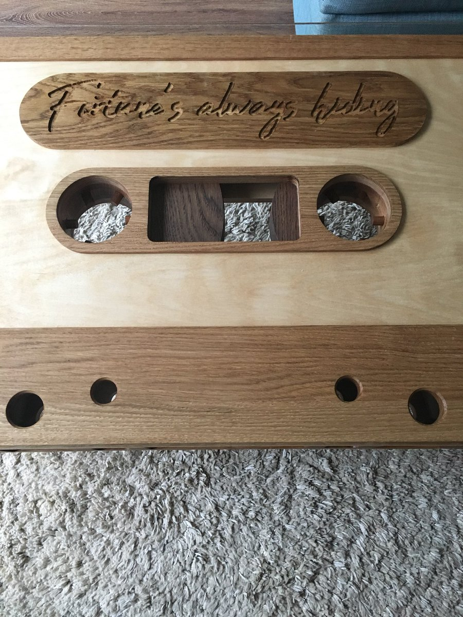 James Lee On Twitter My Latest Project Finished Fortunes Always - Cassette coffee table