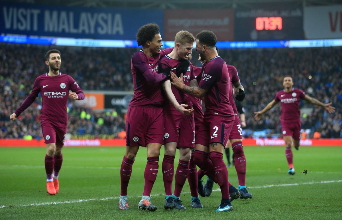 Image result for cardiff 0-2 man city