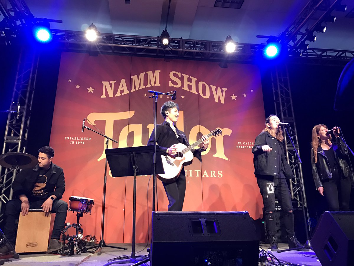 Miyavi Staff 公式 On Twitter Acoustic Set At Namm Show 2018