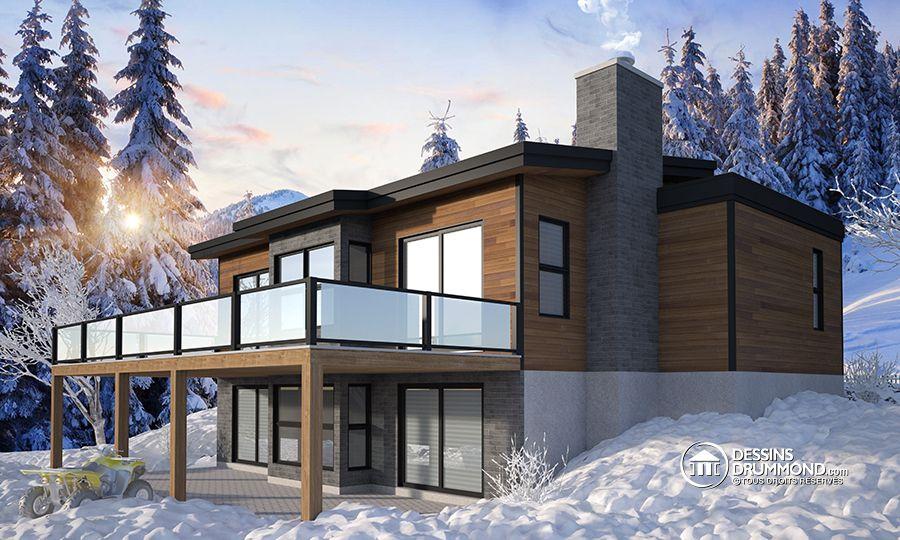 Plans de maisons dessinsdrummond twitter for Plan de chalet contemporain