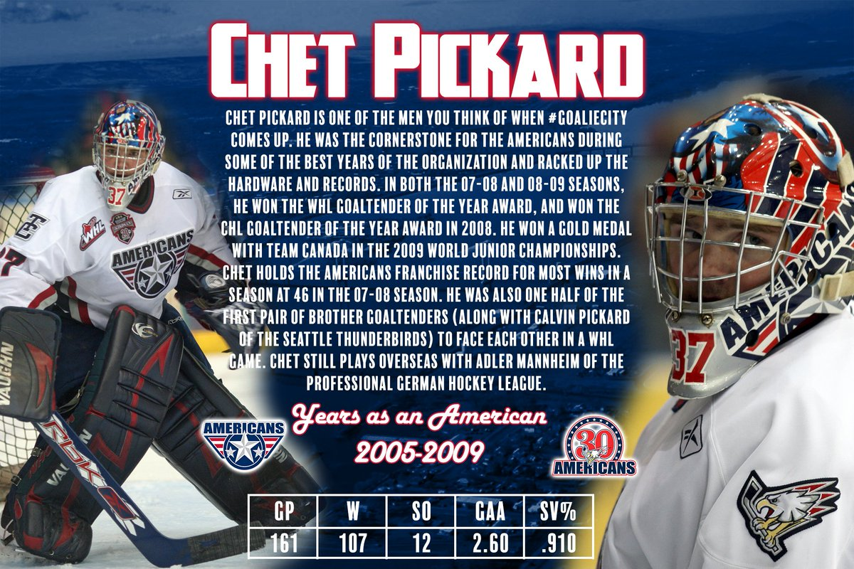 Today we throw back to one of the #GoalieCity greats! @CPickard37 is highlighted in today's Top 30 Players of All-Time! #AmsNation #AmsSince88 https://t.co/LSfXi8uEyQ