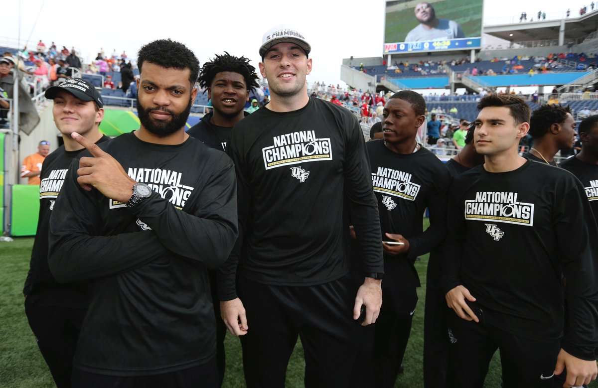 The 'National Champs' in the house for the NFL Bowl