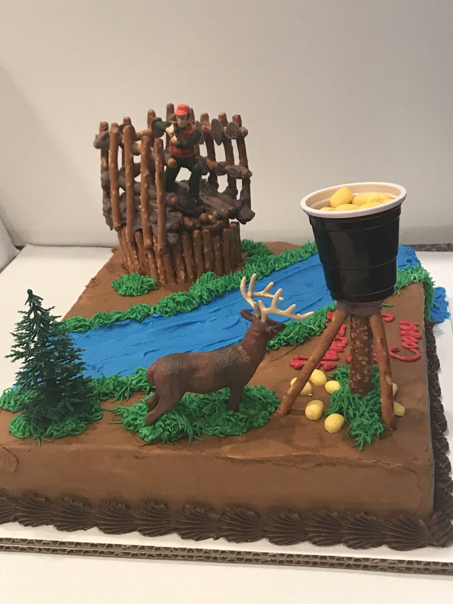 Awesome Minis By Maria On Twitter Deer Hunting Cake Complete With A Deer Funny Birthday Cards Online Elaedamsfinfo