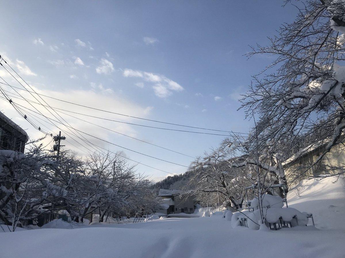 久しぶりの晴れ間。冬になるとなかなか太陽にお目にかかれないのが、米沢。今日はいいお天気になりそう。 #小野川温泉 #近いよ米沢