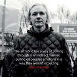 The art world has a way of coming through in an indirect manner, pulling on peoples emotions in a way they weren't expecting—@JulianAssange: https://t.co/1a6aGUh4W3 #WikiLeaksArt