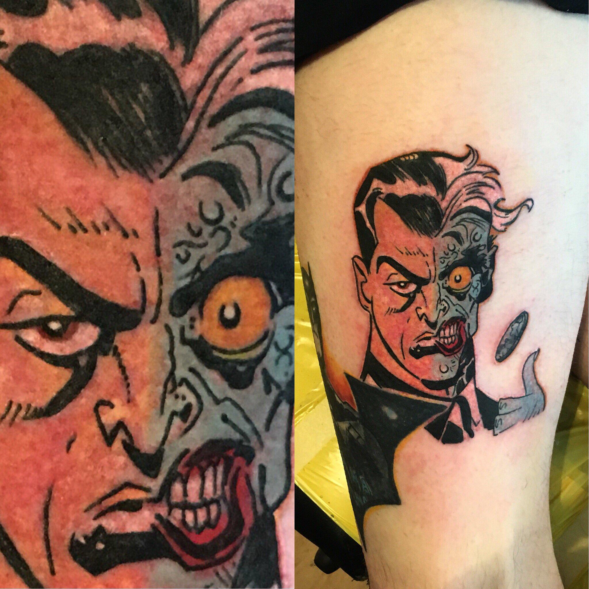franco on Twitter: old school two face #twoface #batman #