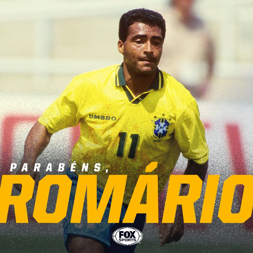 É HOJE: ANIVERSÁRIO DO ROMÁRIO!  O atacante mitou por onde passou. Alguns dos títulos de sua carreira:  🏆 Copa do Mundo 🏆 Copa América 🏆 Confederações 🏆 Mercosul 🏆 Brasileirão 🏆 Espanhol 🏆 Carioca ⚽ MIL GOLS ⚽ REI DA GRANDE ÁREA  Cada RT é um PARABÉNS, BAIXINHO!