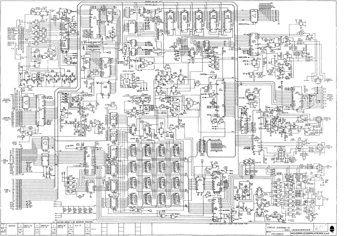 Dave Jones On Twitter Ah Back When A Complete Computer Schematic Of Diagram Could Fit One Sheet Thing Beauty Is Joy Forever