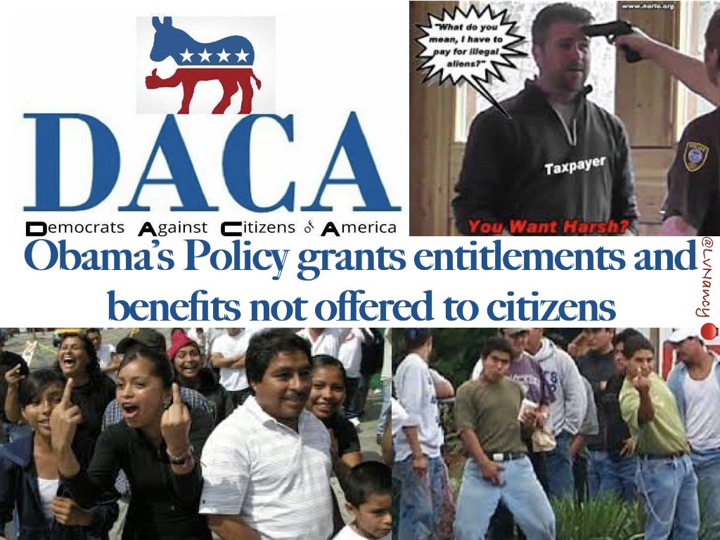 Nazi propaganda - intended to turn the Acronym #DACA again the #HumanBeings it was drafted to serve.