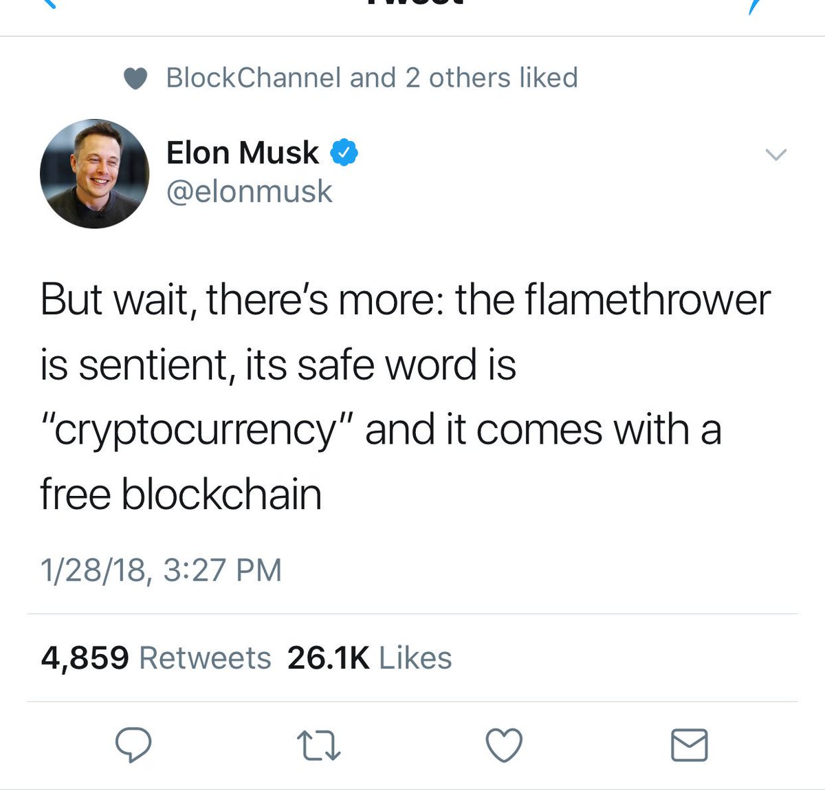 Altcoin Buzz On Twitter You Know They Say Elon Musk Is Satoshi Nakamoto He Does Not Claim To Be But He Did Just Pump Cryptocurrency And Blockchain