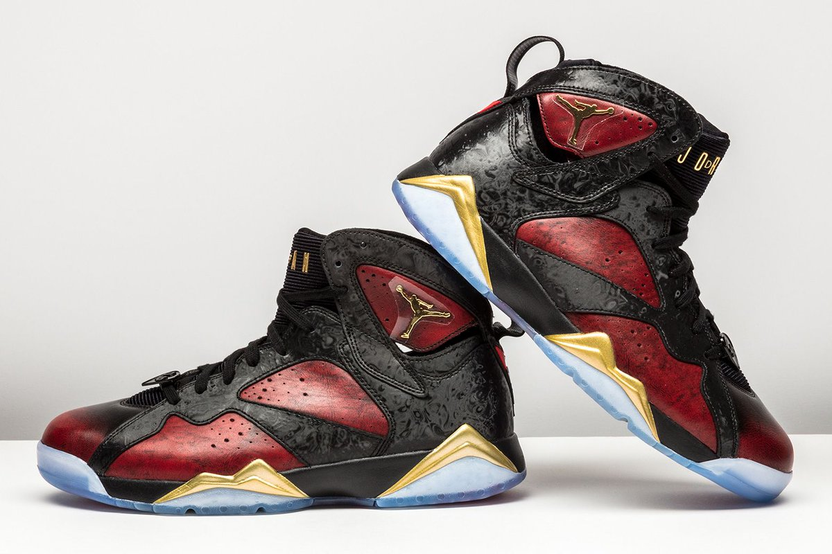 a328abe55906 ... cheapest stadium goods on twitter the air jordan 7 doernbecher features  red and black leather gold