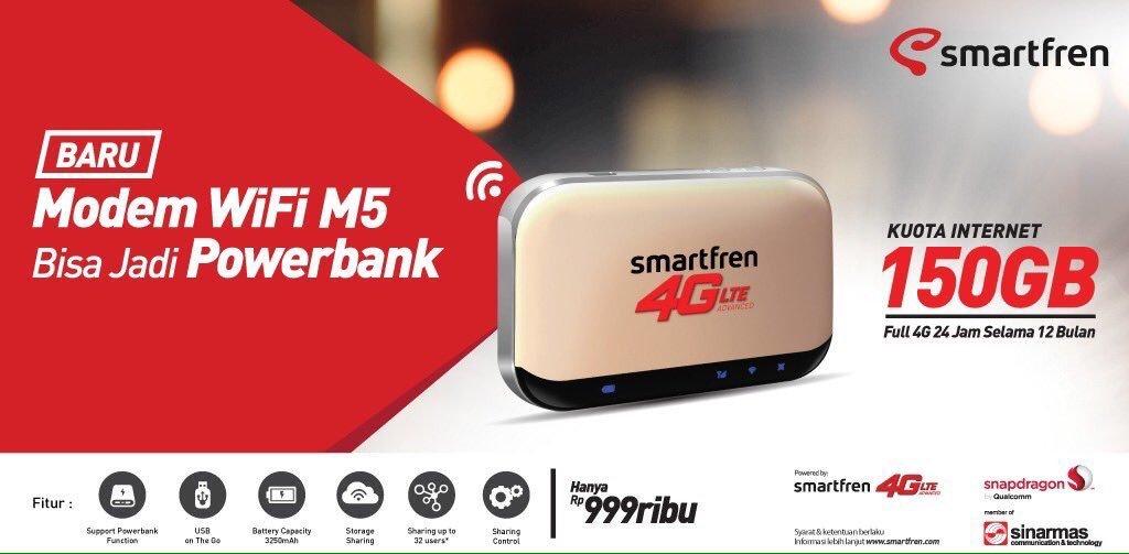 harga dan spesifikasi modem wifi m5 smartfren terbaru 2020