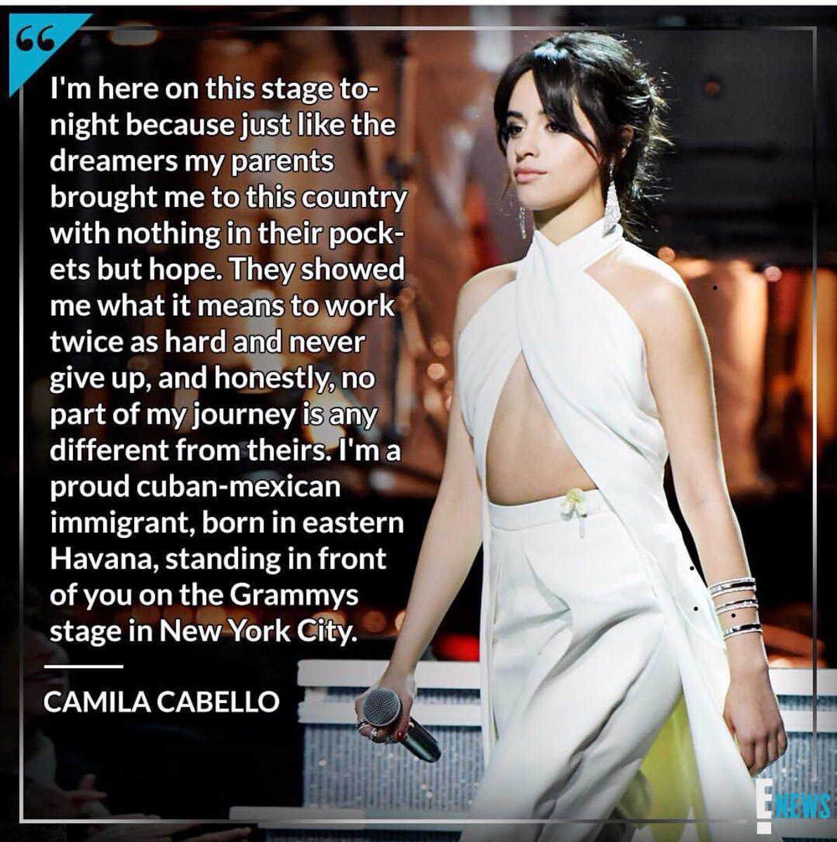 This is how you represent! Great job @Camila_Cabello ???????????????????????????????? #grammys https://t.co/6TvoU9Kqrp