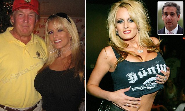 The Orange Ogre with his paid-off-Porn-Pal, @StormyDaniels.