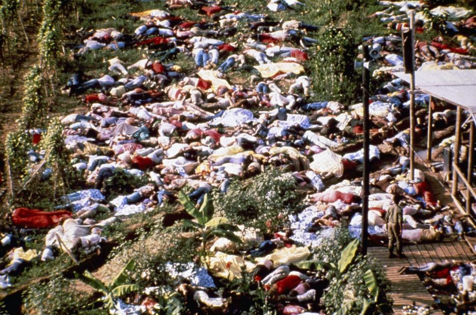 Cult Mass-Suicide by Flavor-Aid. Jonestown, Guyana - 1978