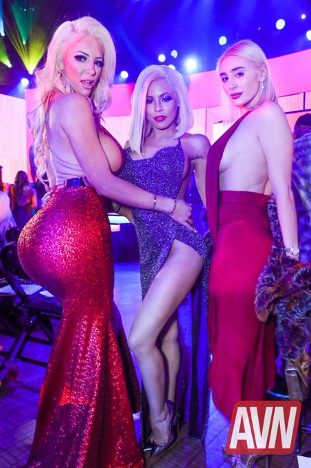 Last night @avnawards @Nicolette_Shea , super hot 💦 https://t.co/dOWE8XI96g