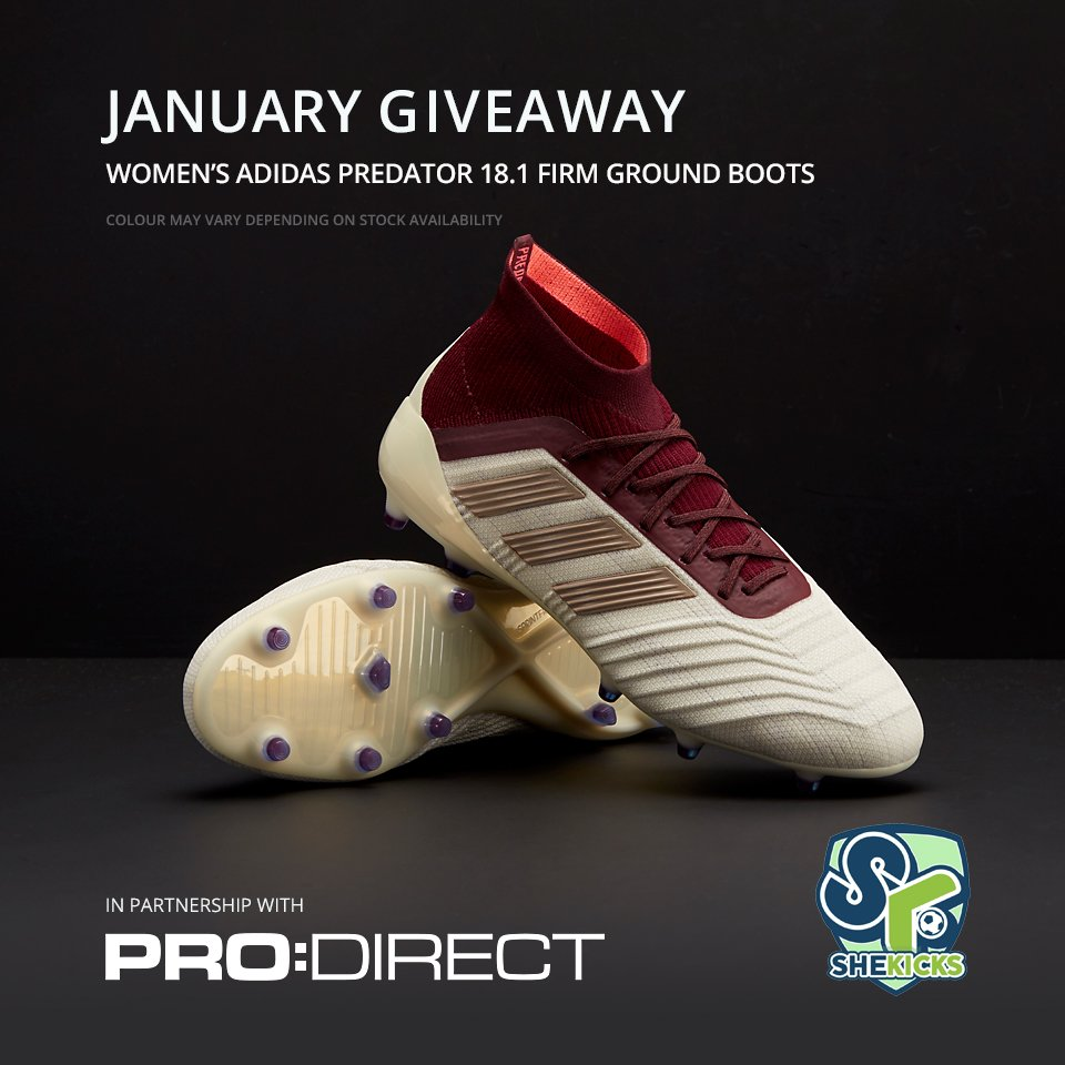 buy popular 5fc13 a4ff2 A pair of women s white   red Adidas predator Firm Ground boots. Beautiful!