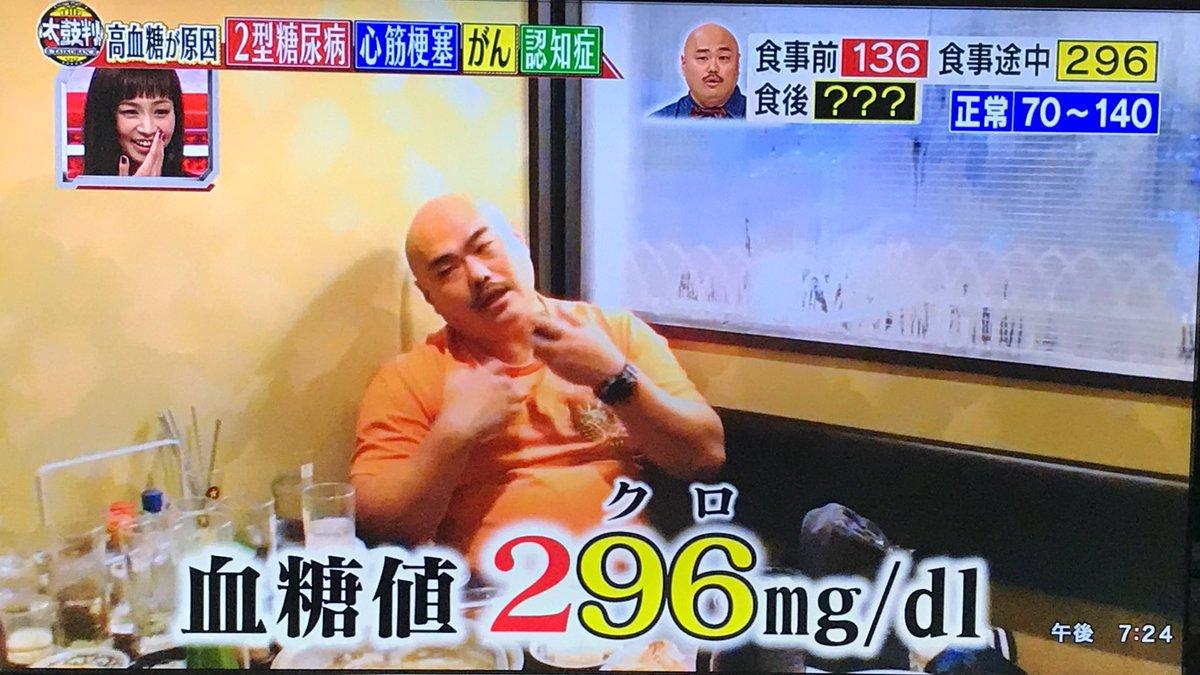 クロちゃん 血糖値