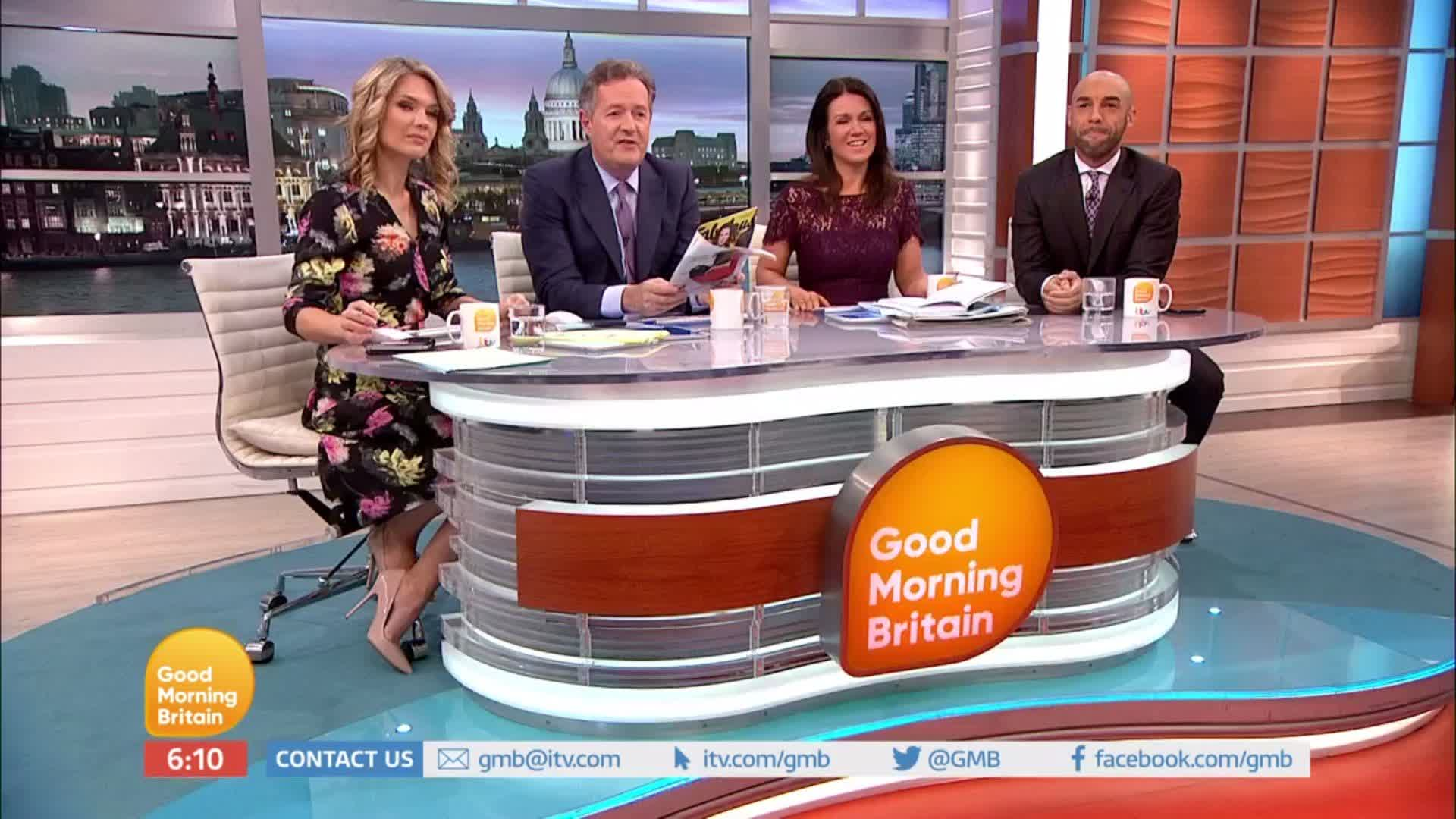 RT @GMB: 'It's never going to be you!' - @SusannaReid100 rips @PiersMorgan over her quest for love 😂 #GMB https://t.co/N6WuWPHlkO