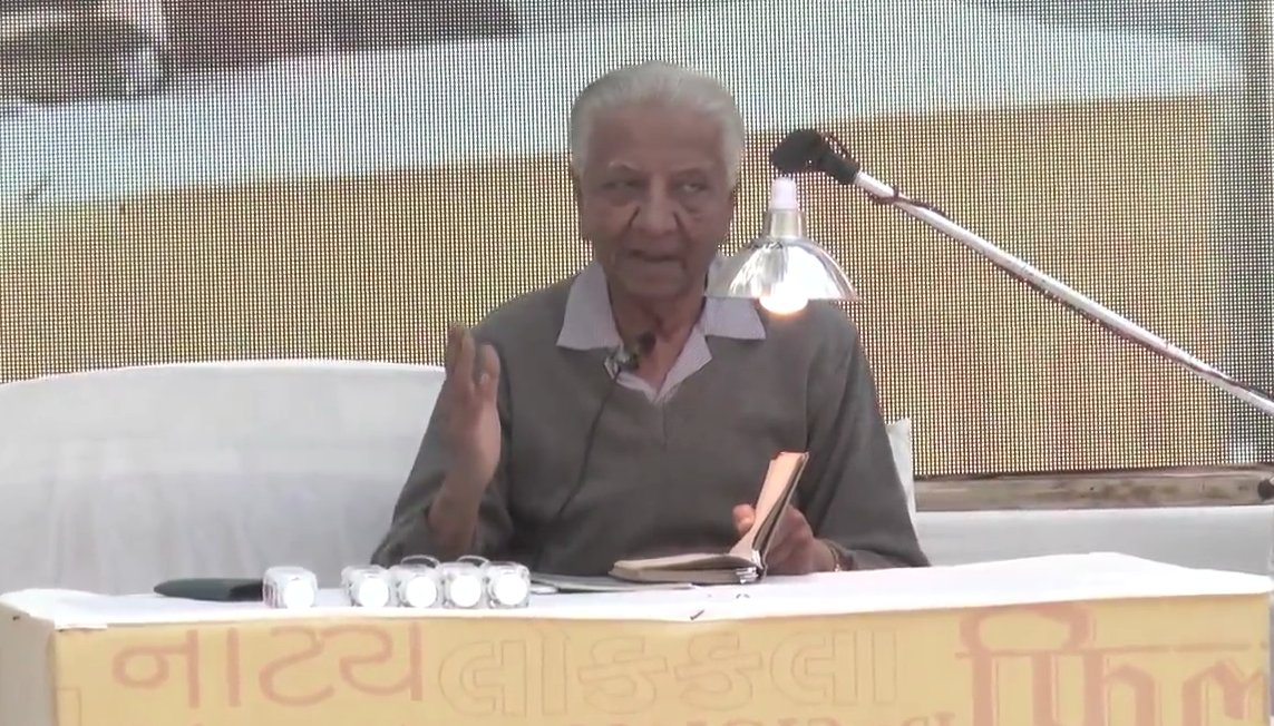 92-year old poet Niranjan Bhagat suffers brain stroke; Internal dispute of Sahitya Parishad responsible, says Vishnu Pandya