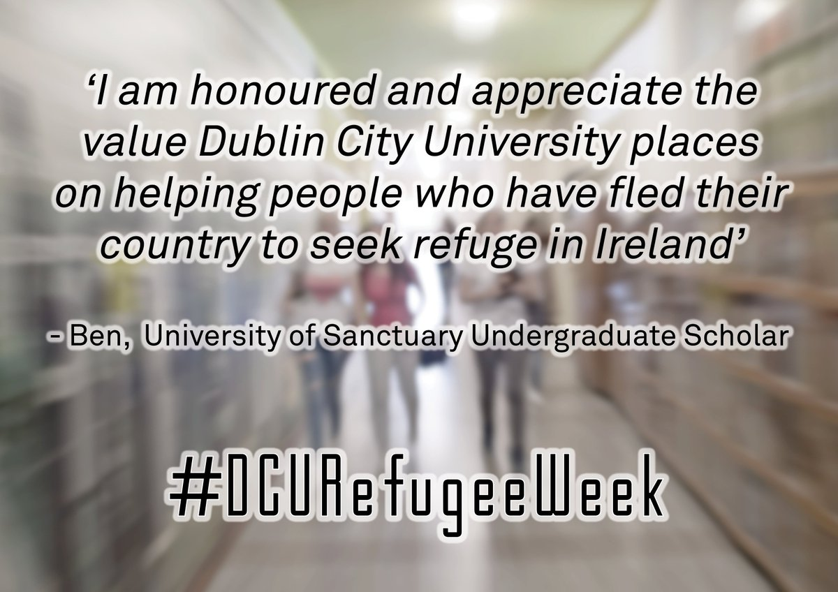 "Refugee Quotes Dcu Students' Union On Twitter ""this Week For 'dcusu's Refugee"