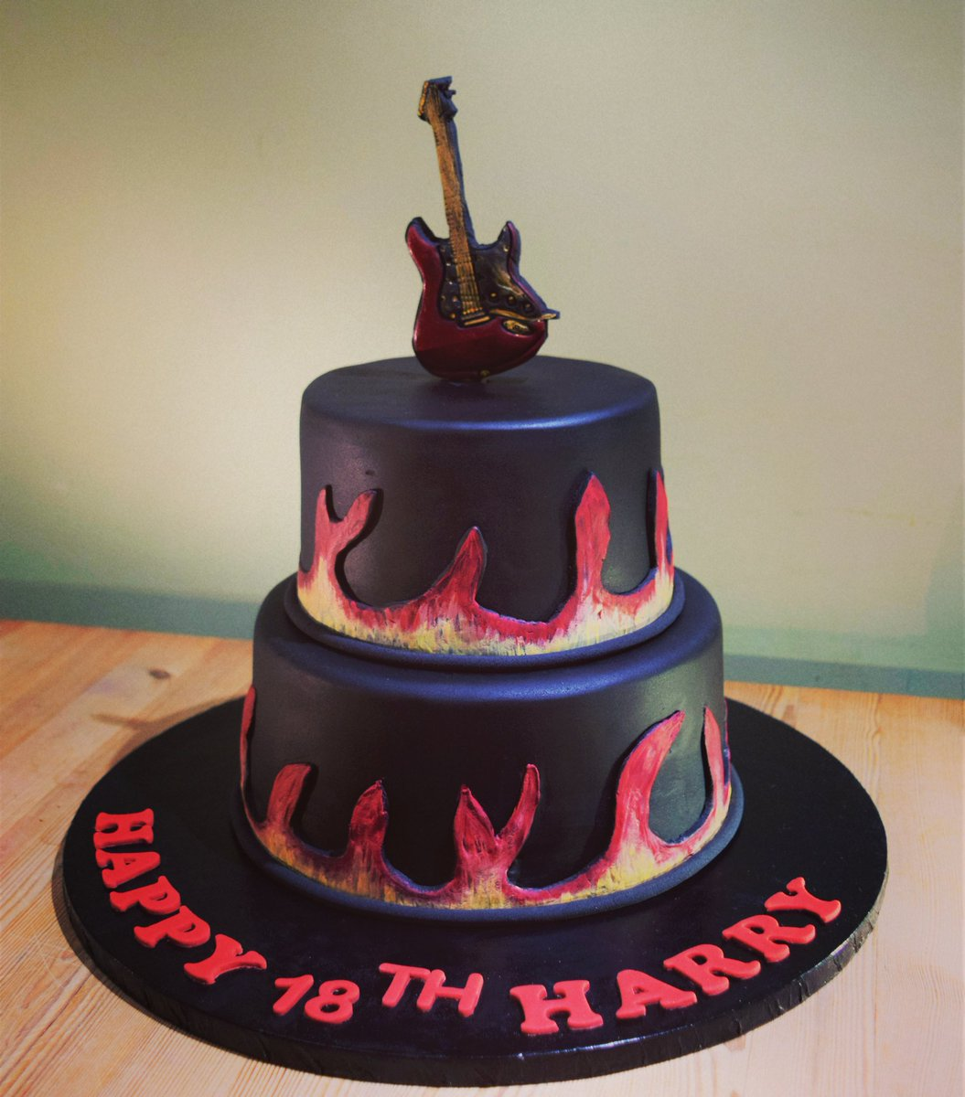 Clairsys Cakes On Twitter 18th Birthday Cake Guitar Birthday