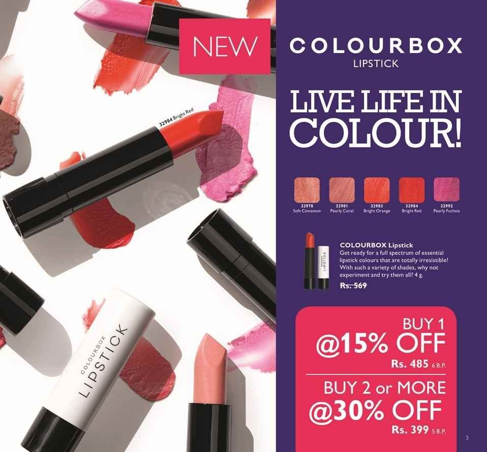 Oriflame Isb Pk Pksudo Twitter Giordani Gold Iconic Lipstick Spf 15 Lavender Lustre Colorboxlipstics Buy 1 At 15off And 2 Or More 30off Rs 485 Soft Cinnamon Pearly Coral Bright Orange Red Fuchsiapic