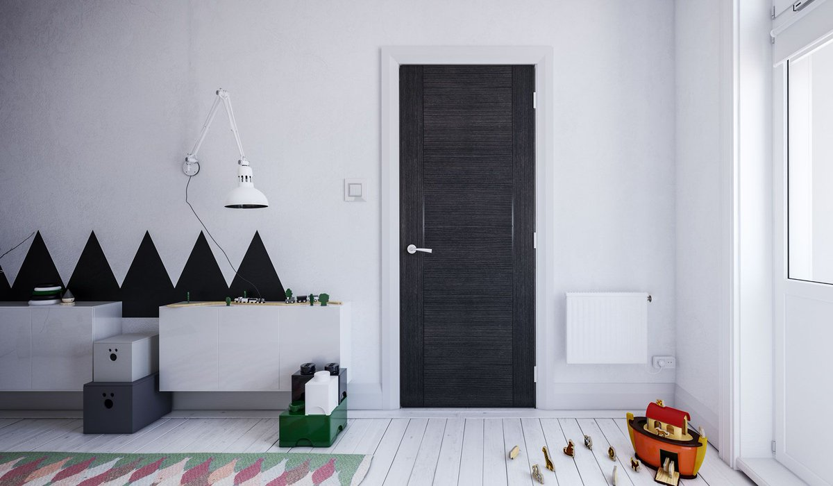 Deanta On Twitter The Montreal Dark Grey Ash Door Is A 4 Panel Stylish Interior Door With A Contemporary Finish Ideal For Adding A Statement In A Room Glazed And Fire Door