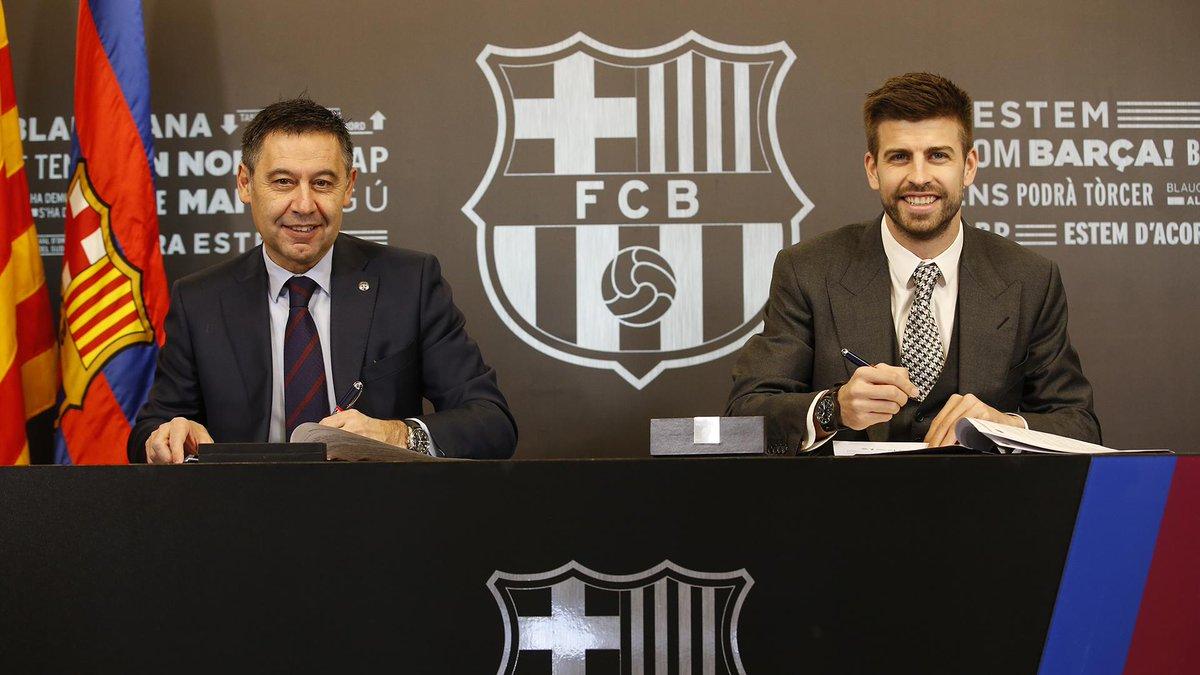 Пике подписал новый контракт с Барселоной