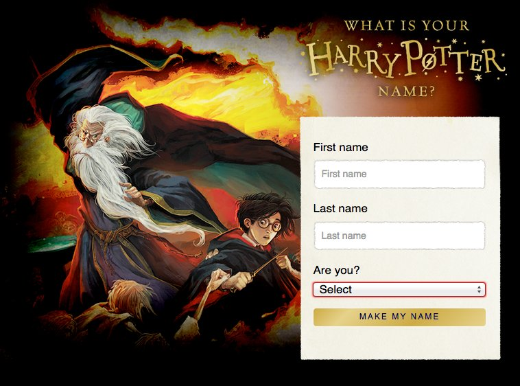 This Fun Character Name Generator Tell Us What Your Inner Witch Wizard Or Muggle Alter Ego Is Called Bitly 2nnN8pj Pictwitter PeIAlObv4Y