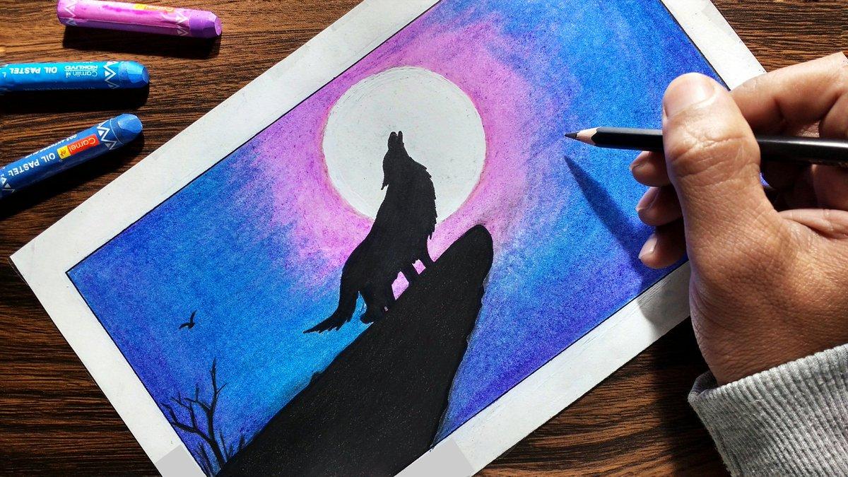Deepak Kumar Singh On Twitter Easy Oil Pastel Drawing By Me Watch Video Https T Co Cuq6mzvgvu Art Drawing Artists Youtube