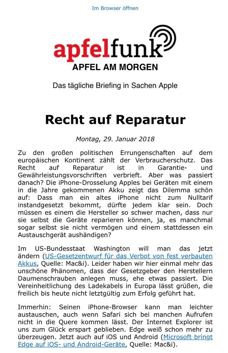 Apfelfunk على تويتر Apfel Am Morgen Unser Neuer