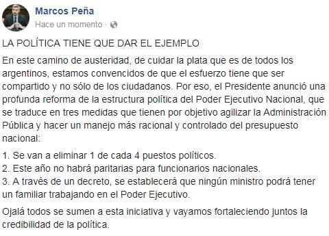 La política tiene que dar el ejemplo. ht...