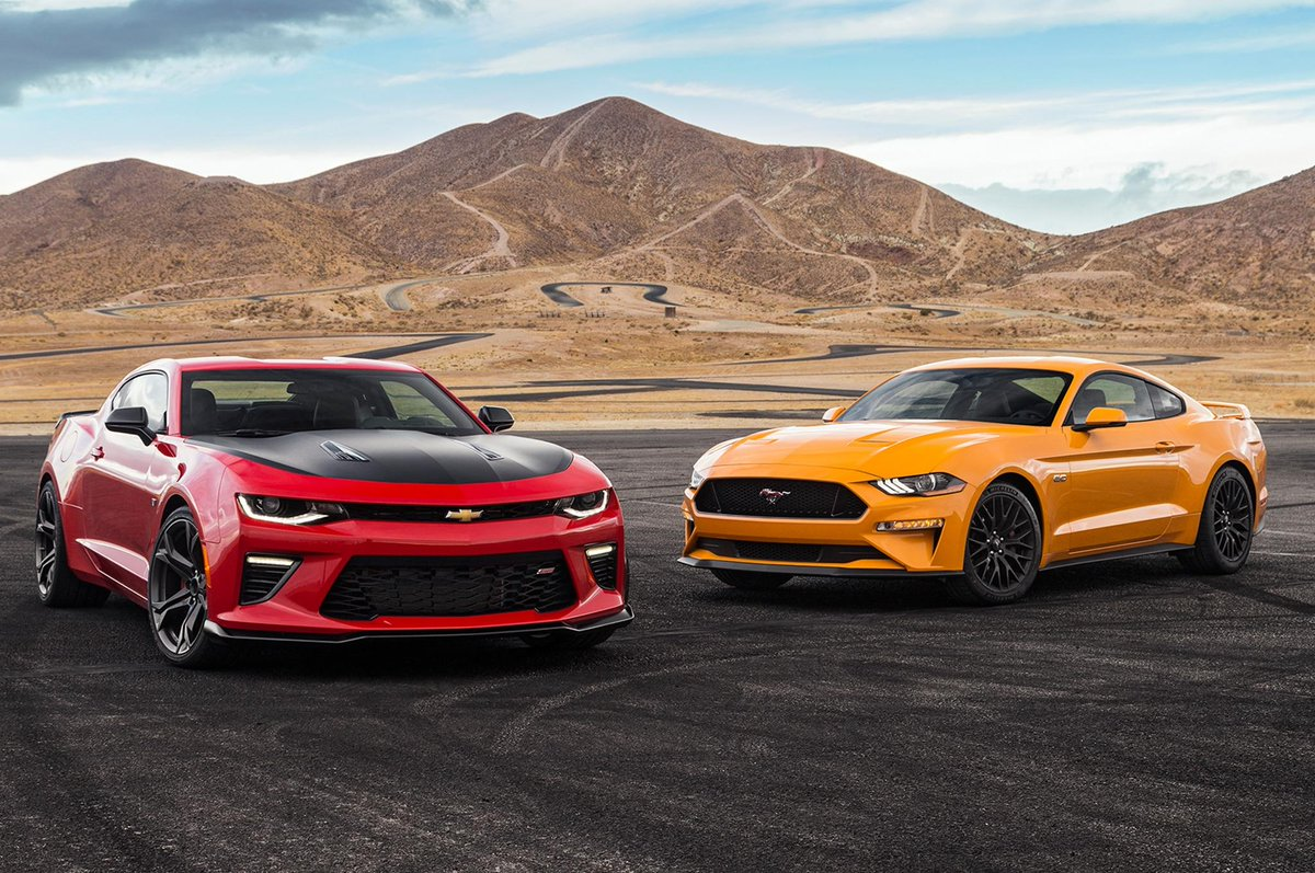 For this comparison test we got our hands on fords refreshed 2018 ford mustang and a 2018 chevrolet camaro find out the winner of this comparo of rivals