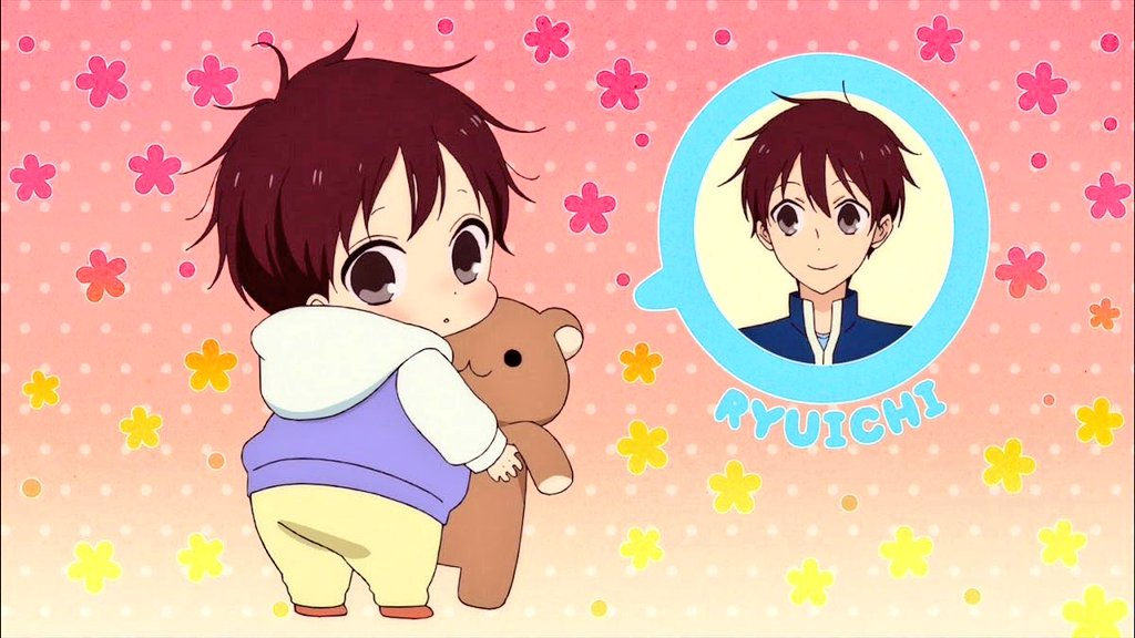 Yolei On Twitter Younger Version Of Ryuichi Hayato Older Version Of Kotaro Taka So Cute Gakuenbabysitters