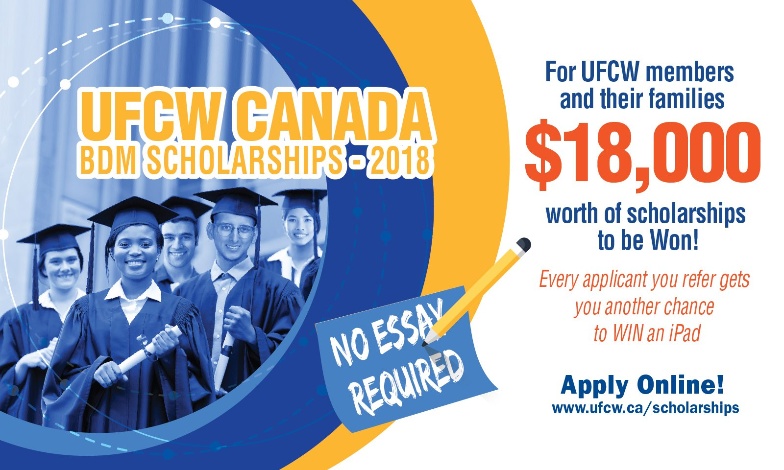 Ufcw Canada On Twitter Its Back  In Scholarships And    In Scholarships And  Apple Ipads Are Available Through Ufcw Canada   Bdm Scholarship Contest Learn More And How To Apply Here