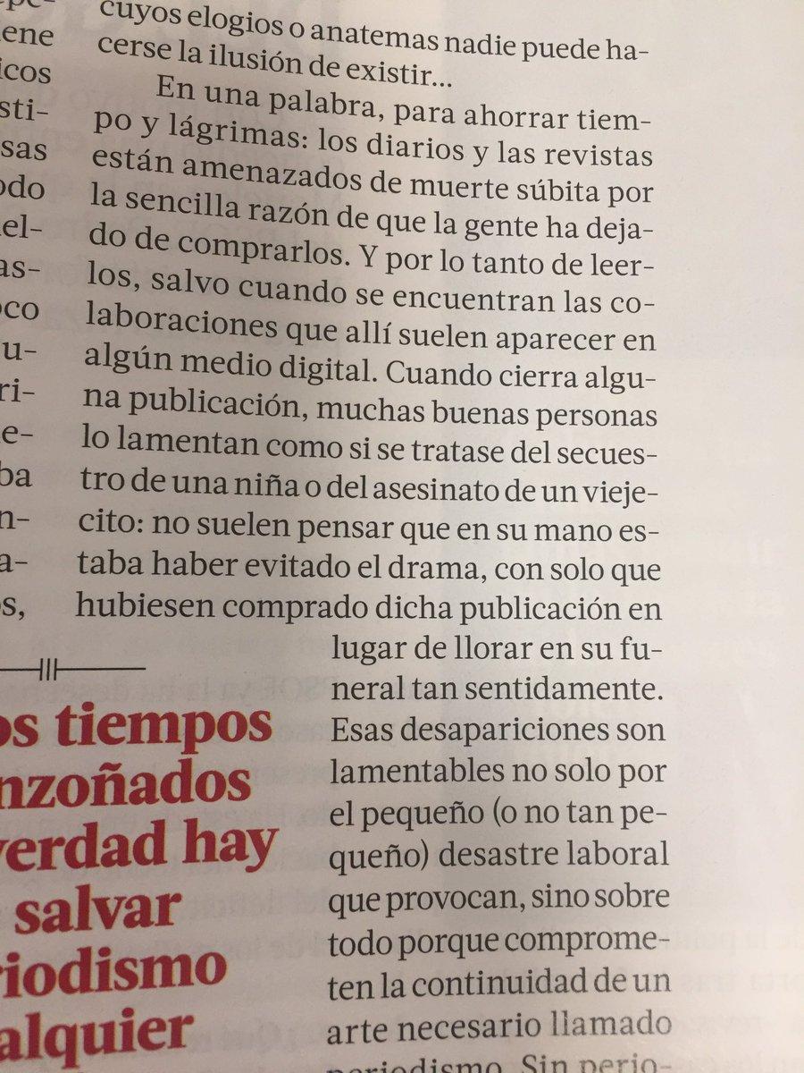 Necesario siempre Fernando Savater en el último número de @tiempo ...una verdad sencilla y sonora