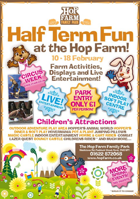 HALF TERM FUN & CIRCUS ZYAIR! 10th -18th February. Fabulous entertainment for all the family - indoor soft play, magic shows, face-painting, animal farm & more! https://t.co/O4SngYhdR3 https://t.co/EFUYWWB49i