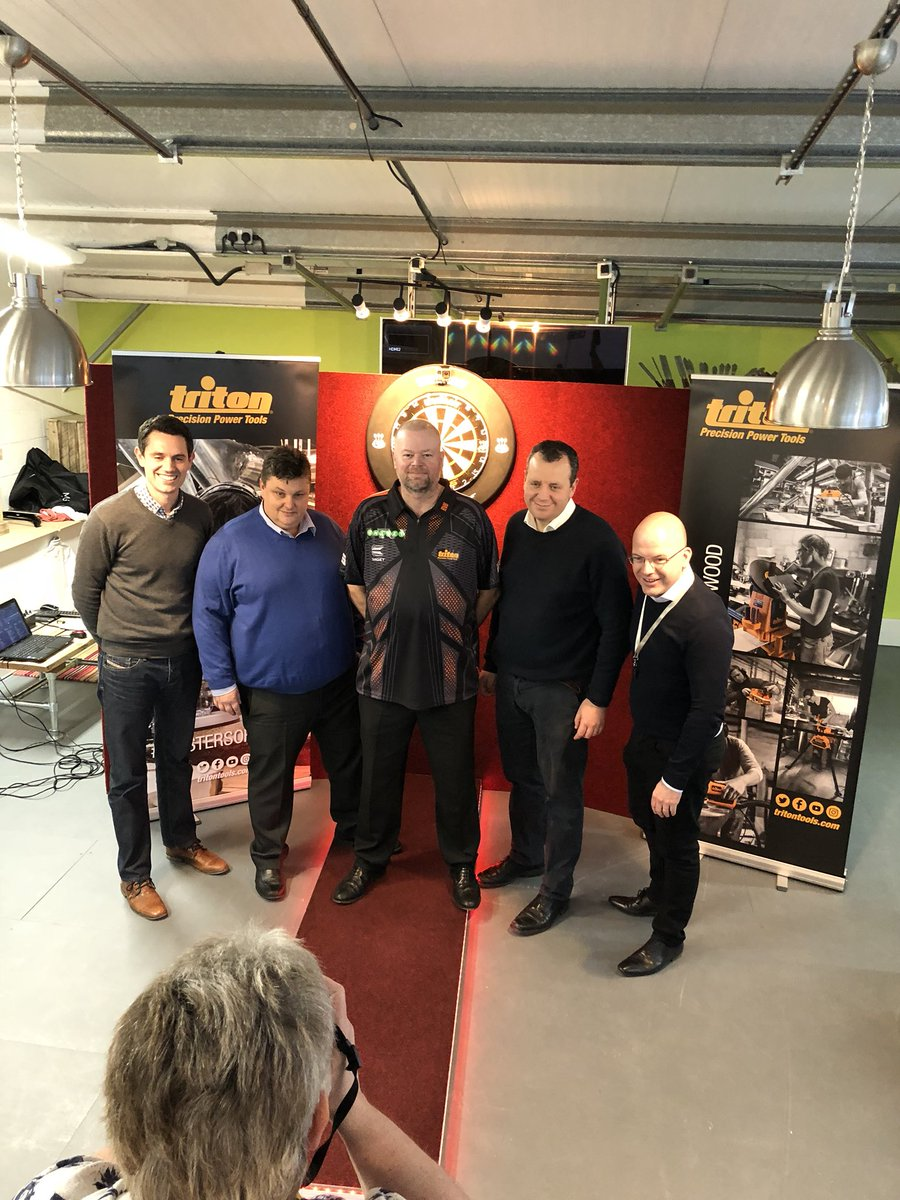 Had a great time at the head office of @Triton_Tools_UK wonderfull people !! Thanks for believing in me and I hope we can have lots of succes in the future !