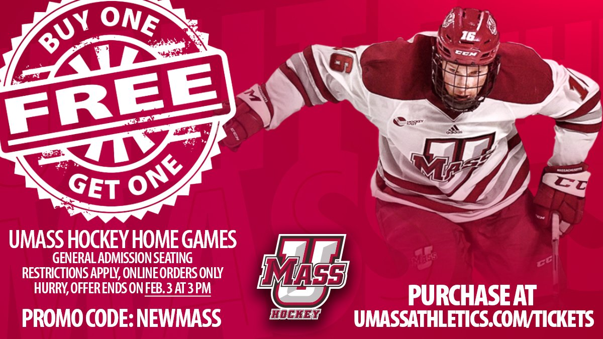 Umass Hockey On Twitter Don T Miss Out On This Bogo Offer