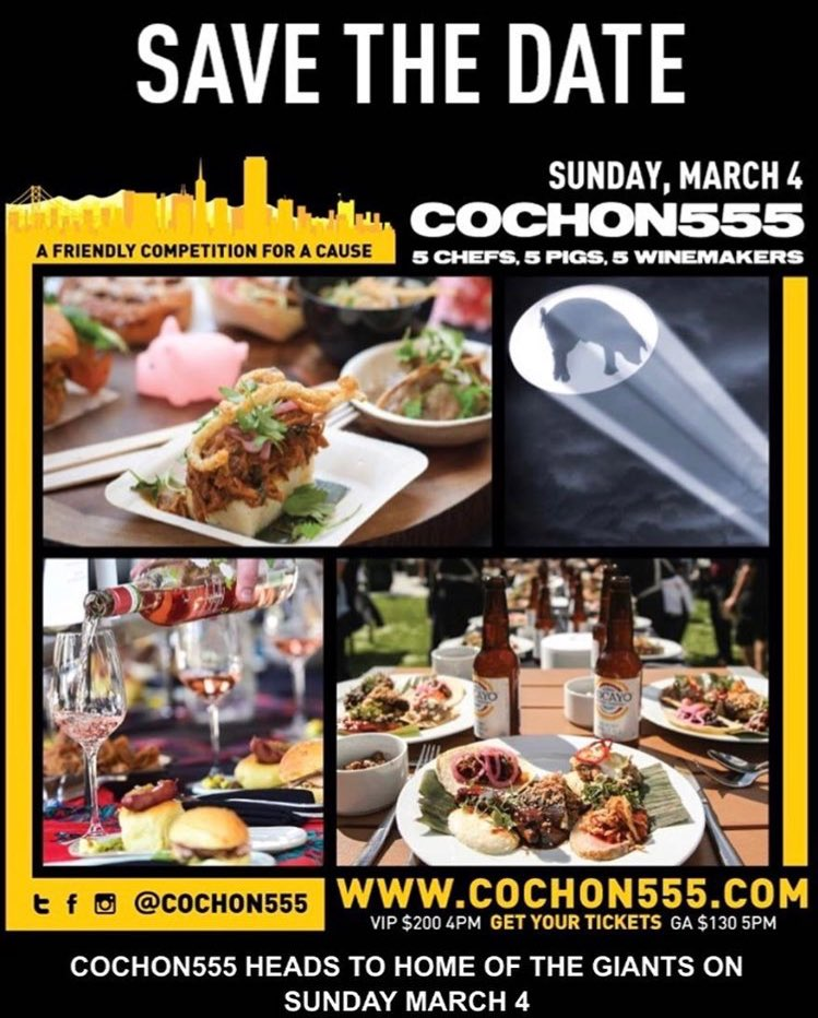 Its Official Folks! Join Us @COCHON555 @ATTParkSF Home of th@SFGiantse  on March 4, 201https://t.co/EKV8feOHqd8  Big love and shout-out@SilverOaks  Official Wine of the best place to watch baseball!