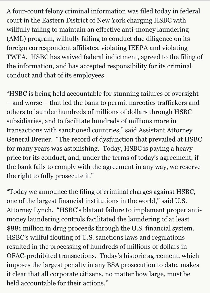 Smitty On Twitter 6 Hsbc Also Paid A 19b Penalty For Money